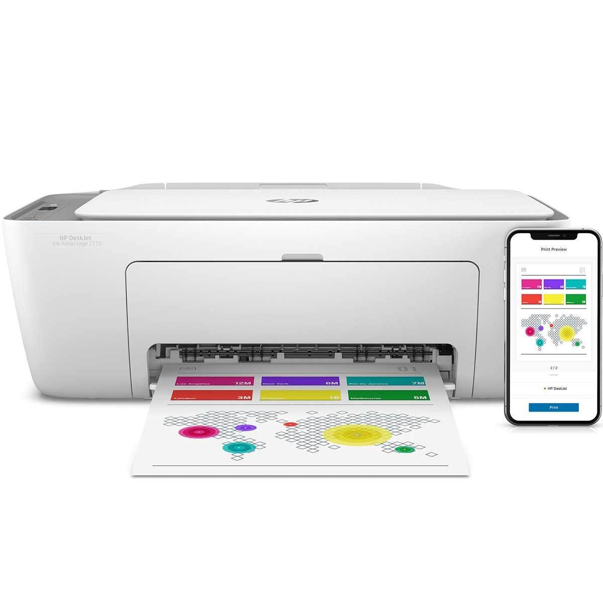 Impresora Multifuncional Inyección HP 2775 AIO